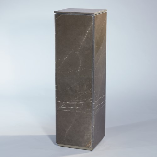 Graffito Marble Pedestal