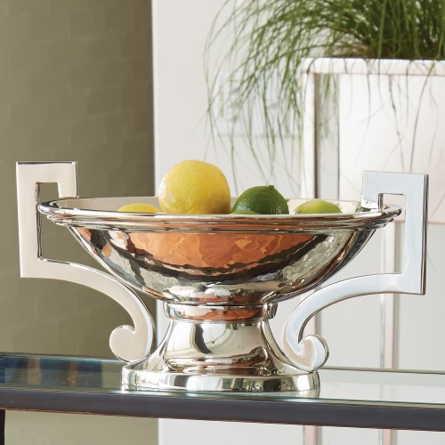 Square Handle Compote-Nickel