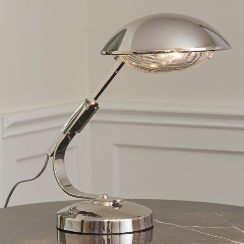 Gordon Extendable Desk Lamp-Nickel
