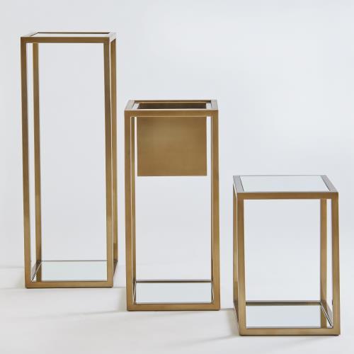 Escher Pedestal/Planter-Brass