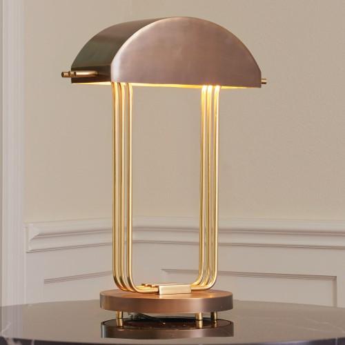 Arc Deco Table Lamp-Brass/Bronze