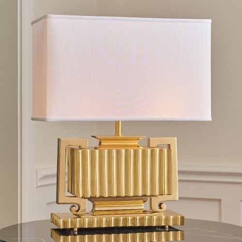 Fluted Urn Lamp-Brass