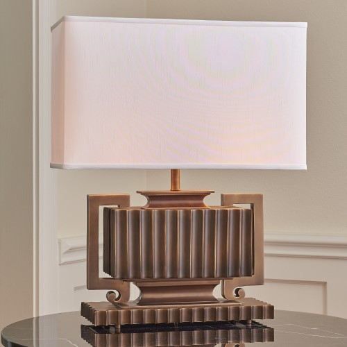 Fluted Urn Lamp-Light Bronze