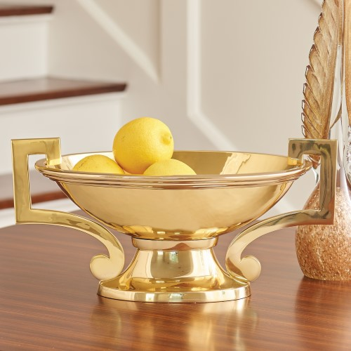 Square Handle Compote-Brass