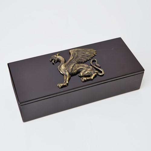 Griffon Dragon Box Top-Bronze/Black