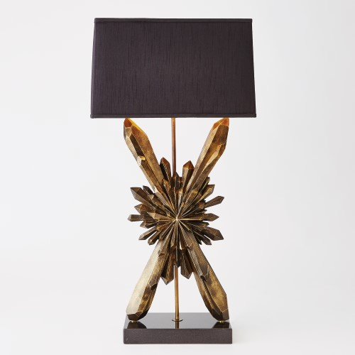 Starburst Lamp-Bronze w/Black Shade