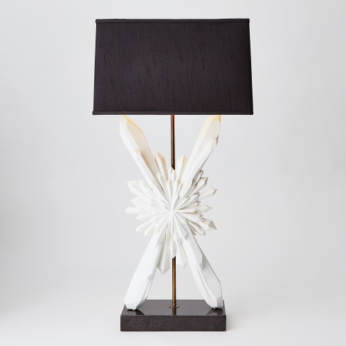 Starburst Lamp-White w/Black Shade