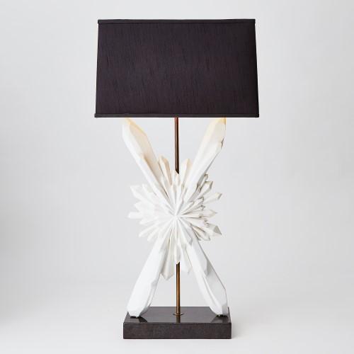 Starburst Lamp-White w/Black Shade