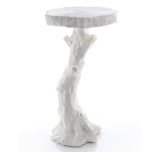 Faux Bois Table-White