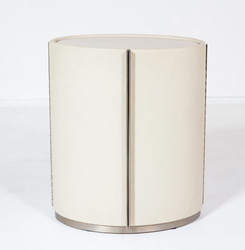 Ellipse Barrel Table-Ivory