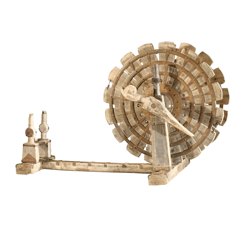 Wooden Spinning Wheel/Charkha