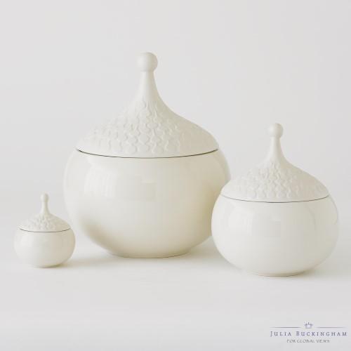 Teardrop Vase-Chalk