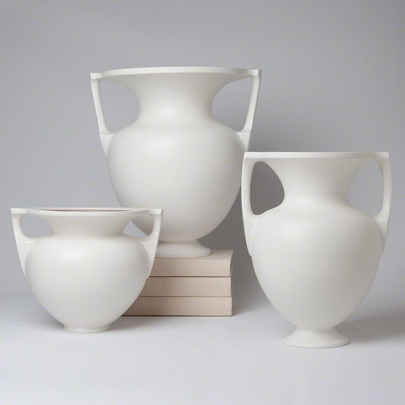 Grecian Amphoras-Matte White