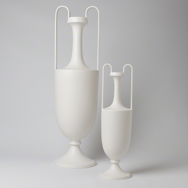 Elongated Grecian Amphoras-Matte White