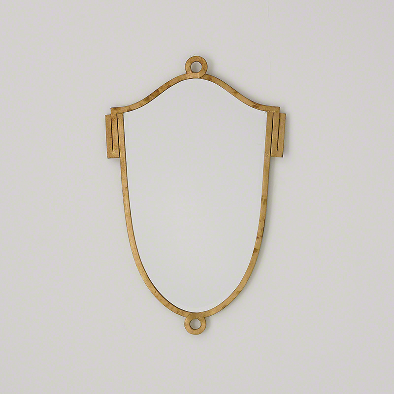 China Shield Mirror-Gold Leaf