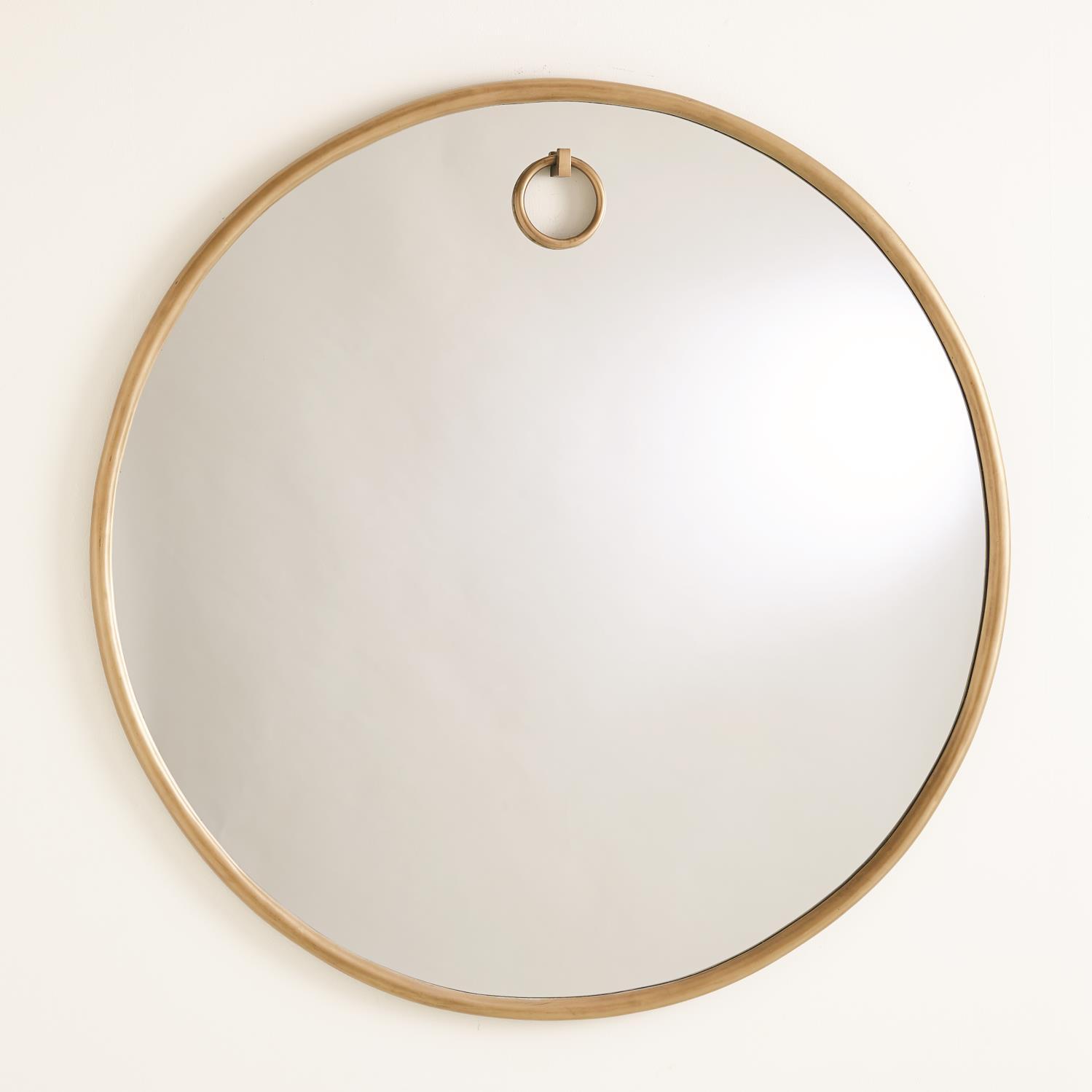Exposed Mirrors Antique Brass