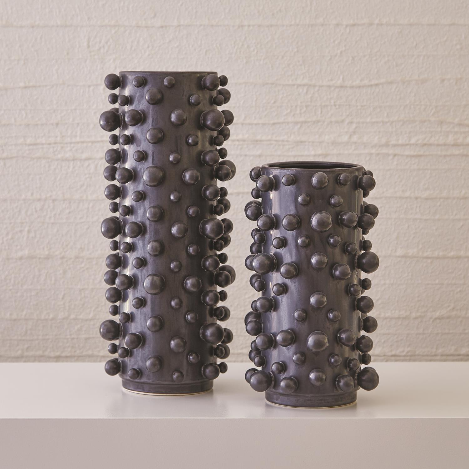 Molecule Vase Graphite