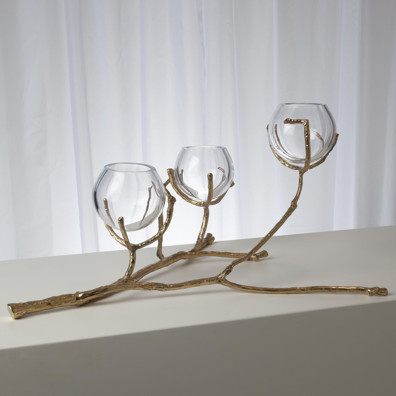 Twig 20 Vase Holder Brass