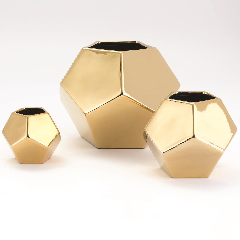Faceted Vase Gold