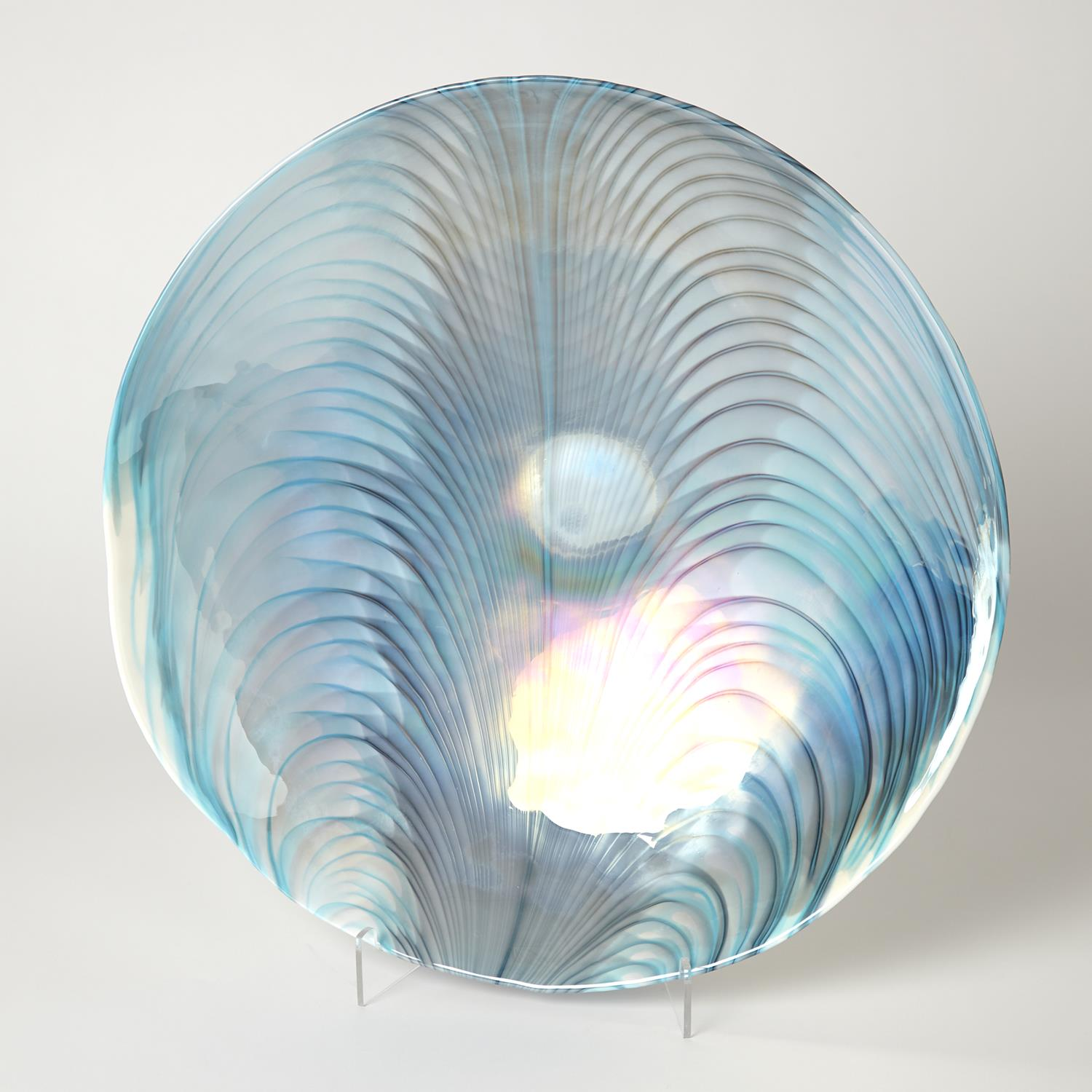 Swirl Turquoise Stained Glass Feather