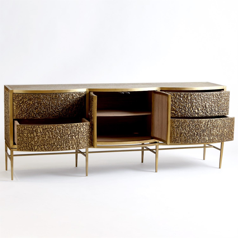Crinkle Long Cabinet Brass Bronze