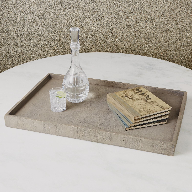 Phenomenal Driftwood Ottoman Tray Grey Bralicious Painted Fabric Chair Ideas Braliciousco