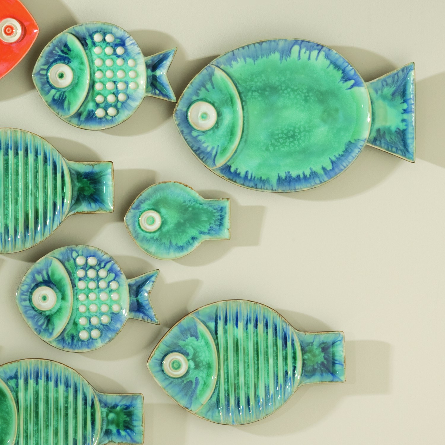 Fish plate Turquoise
