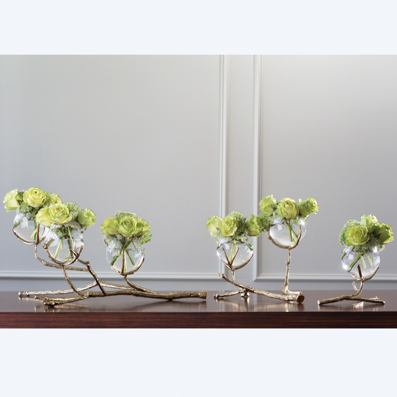 Twig Vase Holder Brass