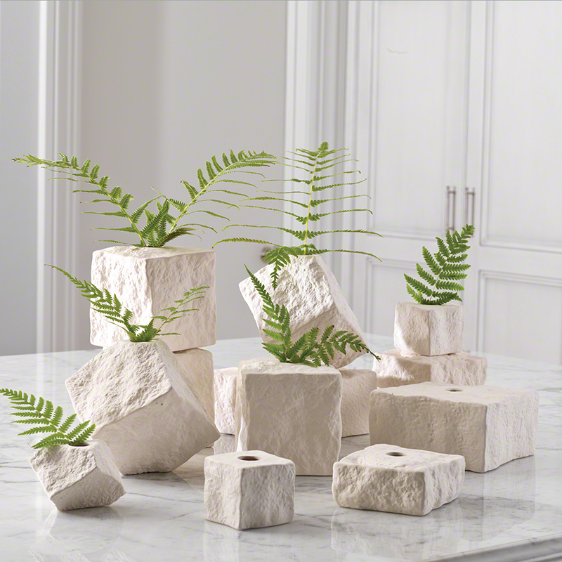 Global views products rocky block vase - Fioriere per interni design ...