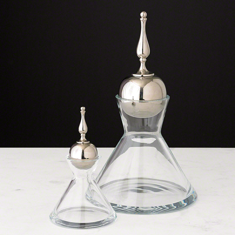 Finial Decanter-Nickel
