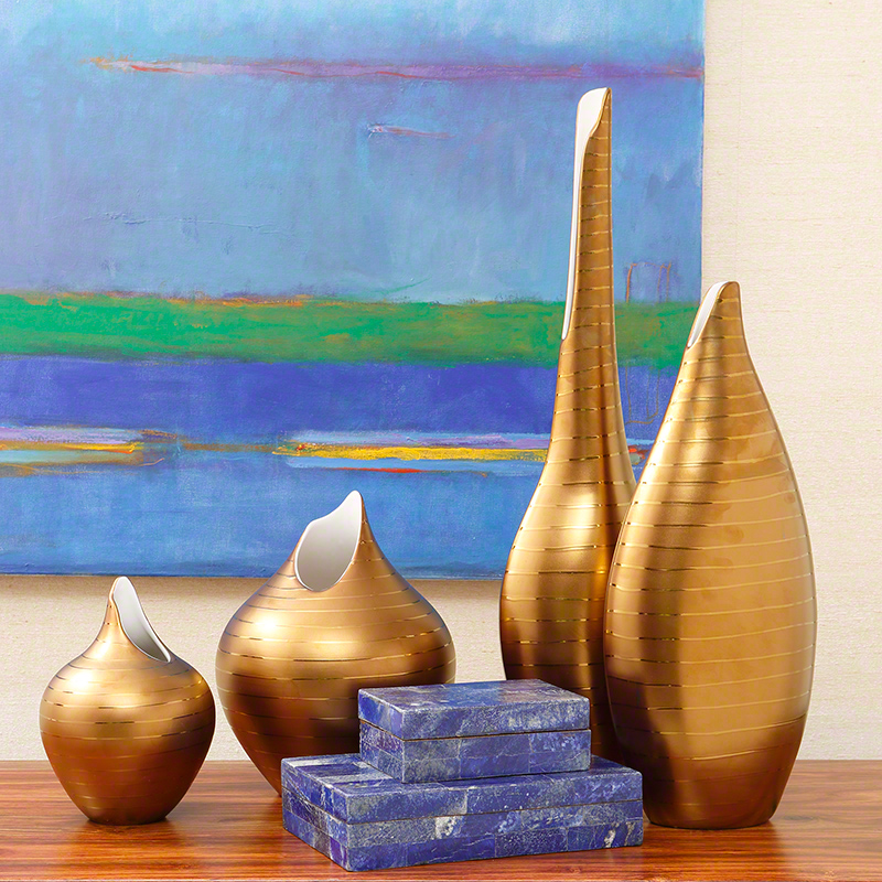 Golden Stripe Vase
