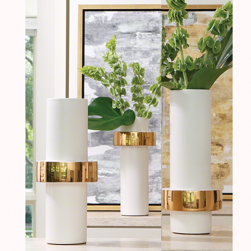 Gold Ring Vase-High