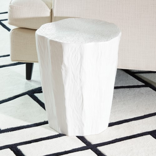 Trunk Stool-White