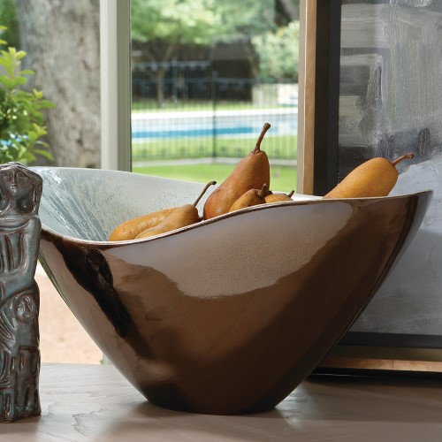 Marta's Bowl-Bronze Reactive Blue