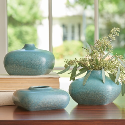 Modernist Vase One-Azure
