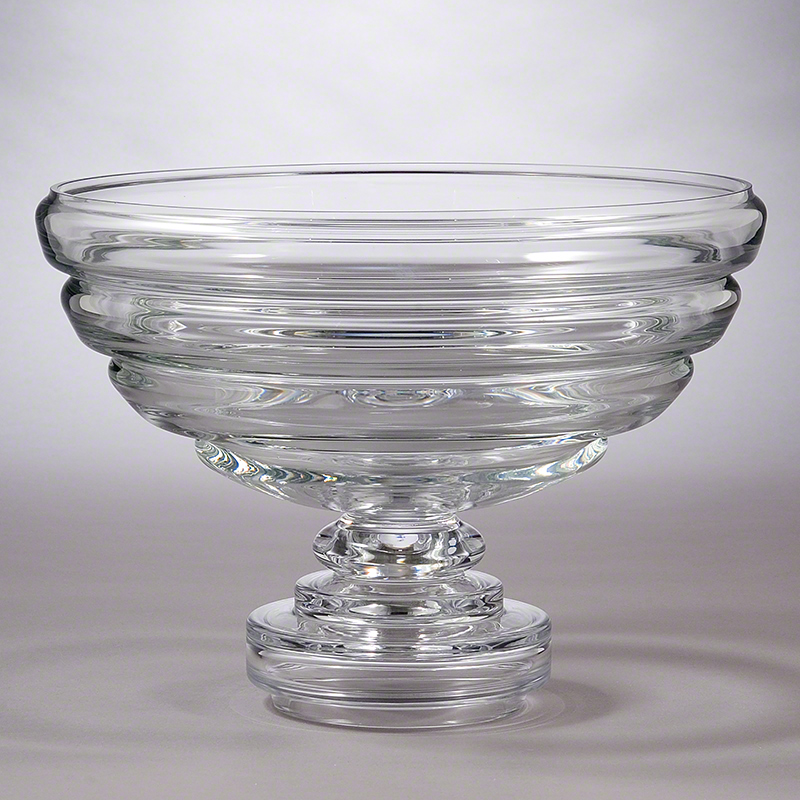 Favorite Clear Glass Footed Fruit Bowl - Glass Designs SE34