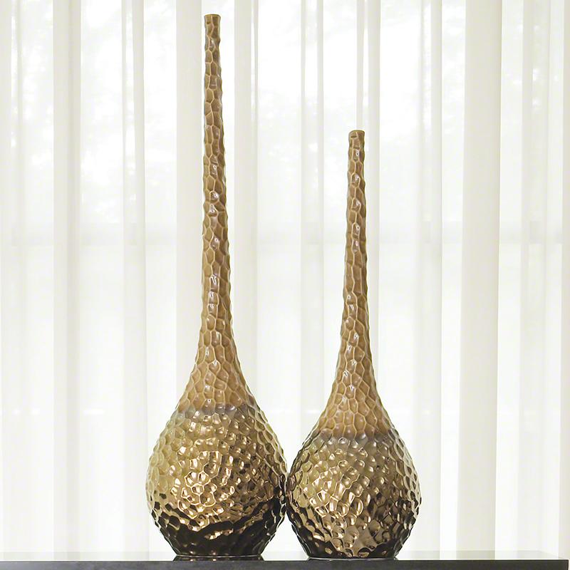 Chiseled Blonde/Bronze Vase