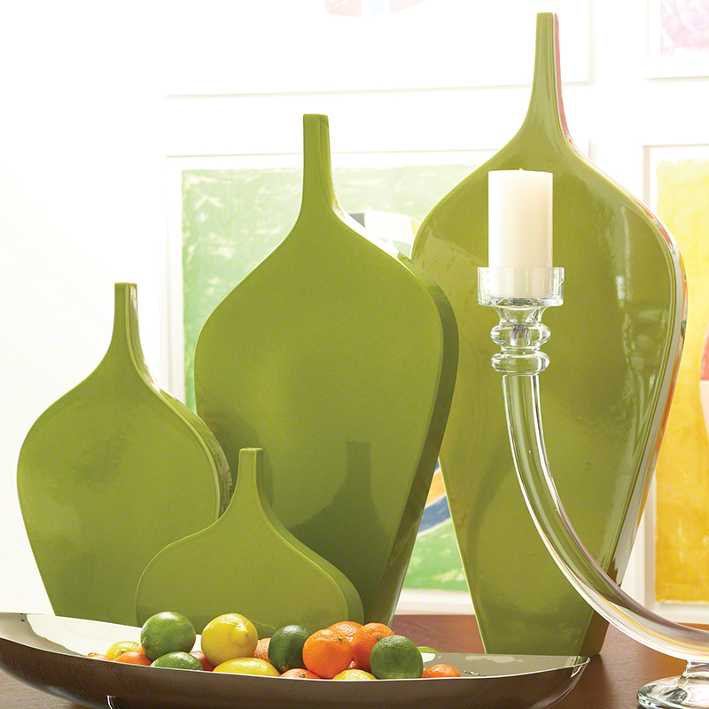 GLOBAL VIEWS | products | Guitar Vase Green