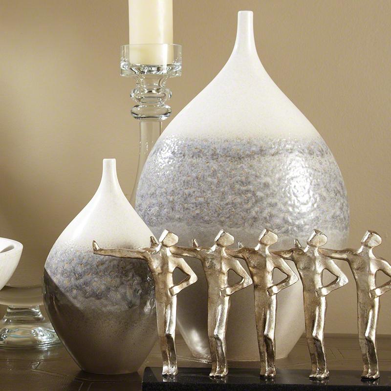 Cream Rises Vase-Wide