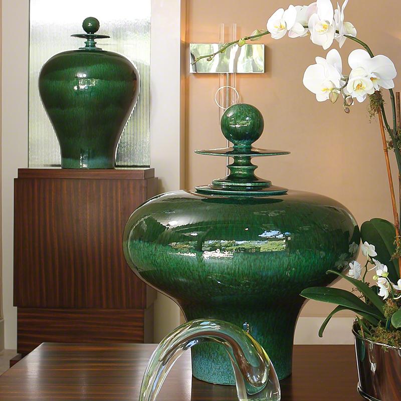 Happy Temple Jar-Emerald