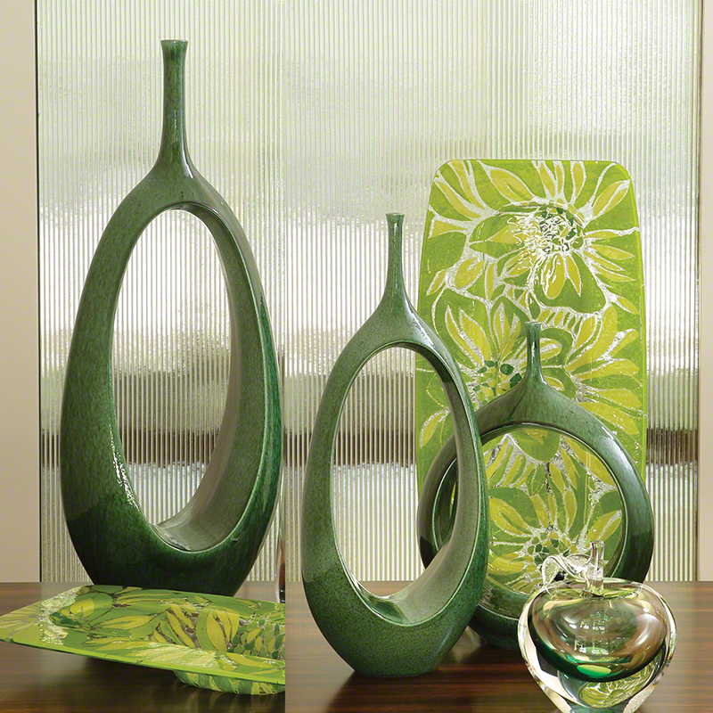 Open Ring Vase-Emerald