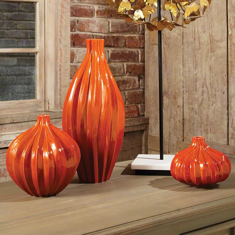 Squash Vase-Orange