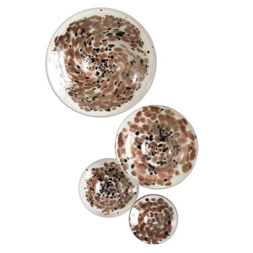 S/4 Glass Wall Mushrooms-Metallic