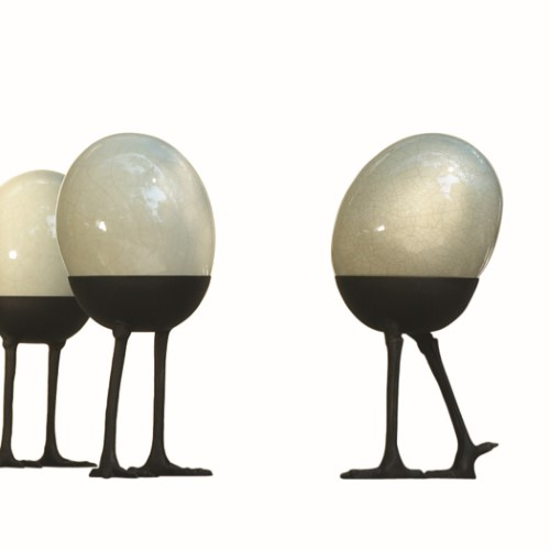 Ostrich Egg on Legs