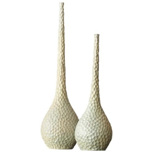 Chiseled Birds Egg Vase