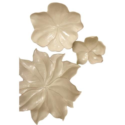 Magnolia Platter-Ivory