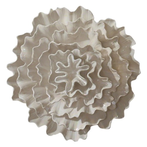 Carnation Wall Flower-Pearl White