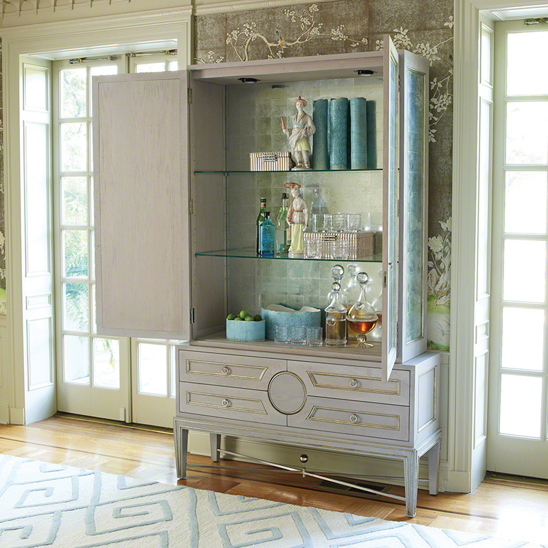 Collectors Cabinet-Grey/Top Only