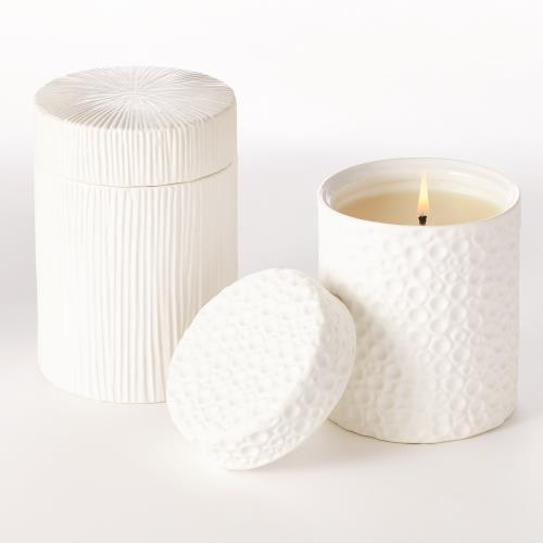 Ocean / Moonscape Jar Candles-White Tahiti-Matte White