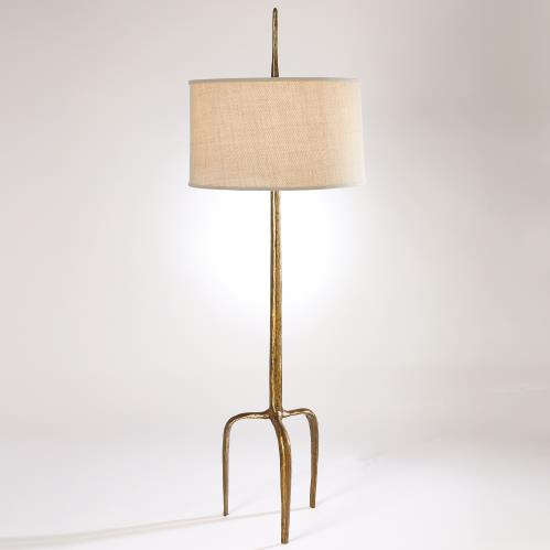 Riley Floor Lamp-Gold